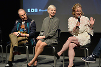 """NEW YORK - APRIL 7: (L-R) Sam Rockwell, Michelle Williams and Nicole Fosse attend the Q&A after the screening of FX's """"Fosse Verdon"""" presented by FX Networks, Fox 21 Television Studios, and FX Productions at the Museum of Modern Art on April 7, 2019 in New York City. (Photo by Anthony Behar/FX/PictureGroup)"""