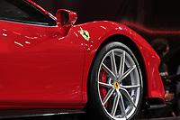 SÃO PAULO, 08.11.2018  - SALAO DO AUTOMOVEL  - Ferrari 488 Pista exposta na 30ª edição do Salão do Automóvel nesta quarta-feira (08) no São Paulo Expo, zona sul da capital paulista.<br /> <br /> (Foto: Fabricio Bomjardim / Brazil Photo Press)
