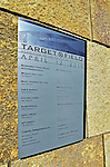 29 September 2012: A plaque signifying all the individuals involved in the realization of Target Field is affixed to the wall outside Gate 29 at Target Field. Photographed prior to a game against the Detroit Tigers at Target Field in Minneapolis, MN. The Tigers defeated the Twins 6-4 in the second game of their 3-game series. Mandatory Credit: Ed Wolfstein Photo