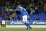 St Johnstone v Hibernian...26.11.11   SPL .Dave Mackay celebrates scoring from a free kick to make it 3-1.Picture by Graeme Hart..Copyright Perthshire Picture Agency.Tel: 01738 623350  Mobile: 07990 594431