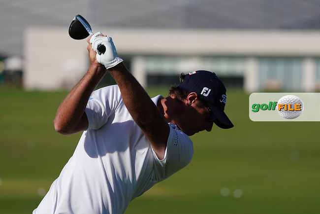 Nicolas Colsaerts (BEL) on the driving range during the Preview of the Commercial Bank Qatar Masters 2020 at the Education City Golf Club, Doha, Qatar . 03/03/2020<br /> Picture: Golffile | Thos Caffrey<br /> <br /> <br /> All photo usage must carry mandatory copyright credit (© Golffile | Thos Caffrey)