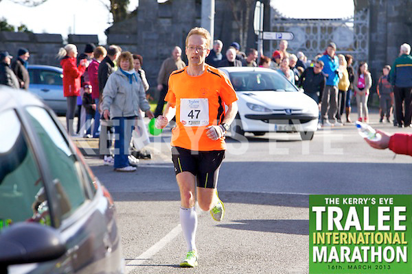 0047 Thomas Bubendorfer who took part in the Kerry's Eye, Tralee International Marathon on Saturday March 16th 2013.