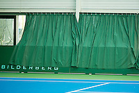 Hilversum, The Netherlands, March 10, 2016,  Tulip Tennis Center, NOVK, curtains over boarding<br /> Photo: Tennisimages/Henk Koster