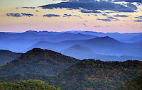Scenic view from the Blue Ridge Parkway national park in Virginia. Photo/Andrew Shurtleff
