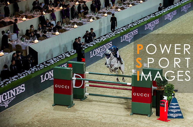 Katharina Offel of Ukraine riding Charlie in action during the Hong Kong Jockey Club Trophy competition as part of the Longines Hong Kong Masters on 13 February 2015, at the Asia World Expo, outskirts Hong Kong, China. Photo by Victor Fraile / Power Sport Images