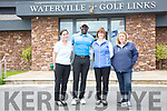 Dwight Yorke visits Waterville Golf Club for two round of Golf pictured here with l-r; Miriam Courtney, Martina Houlihan & Linda Higgins. Dwight 'The Best Links Course I have ever played and the staff here are just fantastic'.