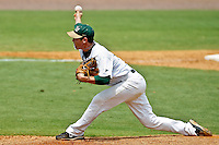 June 05, 2011:   Jacksonville Dolphins rhp Chris Kaminski (9) pitches in relief during NCAA Gainesville Regional action between Jacksonville Dolphins and Miami Hurricanes played at Alfred A. McKethan Stadium on the campus of Florida University in Gainesville, Florida.    Miami defeated Jacksonville 6-3. ........