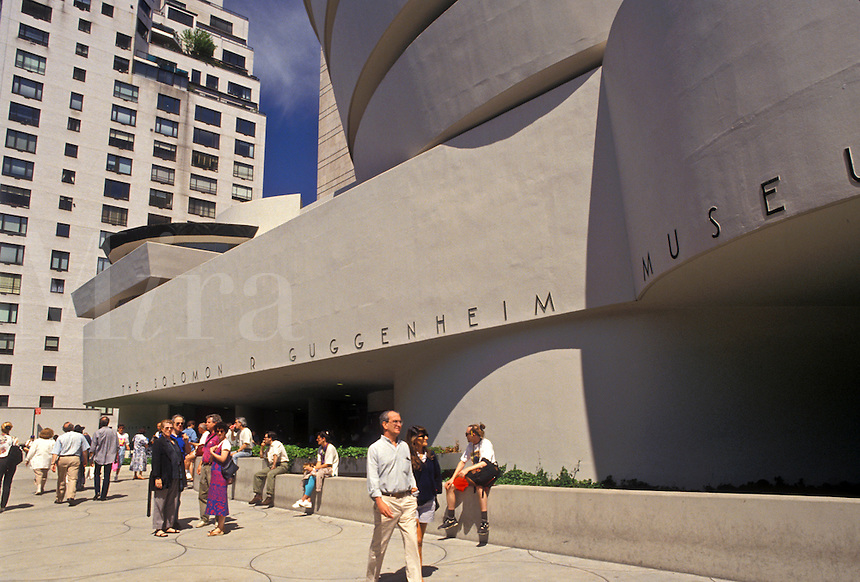 AJ4352, Guggenheim, museum, Manhattan, New York City, downtown, N.Y.C., New York, NYC, The Solomon R. Guggenheim Museum in downtown Upper Manhattan in New York City in the state of New York.