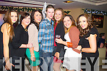 Linda Enright Tarbert Aoife Curtin Listowel Patricia O'Connor Ballylongford Kevin O'Connor Kenmare Ellen Stack Moyvane Geraldine Mulvihill Moyvane Denise Collins (Moyvane) celebrating New Year's Eve at the Kube bar, Killarney on Tuesday night.