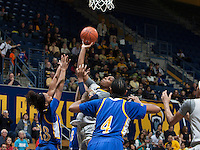 Reshanda Gray of California shoots the ball during the game against Bakersfield at Haas Pavilion in Berkeley, California on December 15th, 2013.  California defeated Bakersfield Roadrunners, 70-51.