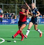 AMSTELVEEN  - Bente van der Veldt (laren) , hoofdklasse hockeywedstrijd dames Pinole-Laren (1-3). COPYRIGHT  KOEN SUYK