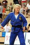Lea Reimann aus Deutschland freut sich nach dem gewonnen Finale in der Gewichtsklasse bis 63 Kilogramm beim European Cup im Judo am 27.8.2016 in Saarbrücken.<br /> <br /> Foto © PIX-Sportfotos *** Foto ist honorarpflichtig! *** Auf Anfrage in hoeherer Qualitaet/Aufloesung. Belegexemplar erbeten. Veroeffentlichung ausschliesslich fuer journalistisch-publizistische Zwecke. For editorial use only.
