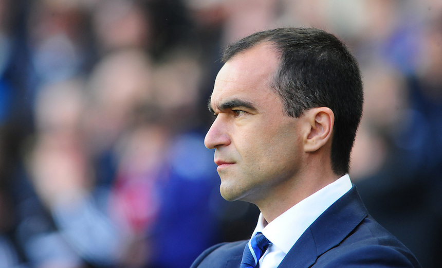 Everton's Manager Roberto Martinez <br /> <br /> Photographer Chris Vaughan/CameraSport<br /> <br /> Football - Barclays Premiership - Hull City v Everton - Sunday 11th May 2014 - Kingston Communications Stadium - Hull<br /> <br /> &copy; CameraSport - 43 Linden Ave. Countesthorpe. Leicester. England. LE8 5PG - Tel: +44 (0) 116 277 4147 - admin@camerasport.com - www.camerasport.com
