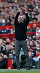 Josep Guardiola manager of Manchester City applauds during the Premier League match at Old Trafford, Manchester. Picture date: 8th March 2020. Picture credit should read: Darren Staples/Sportimage