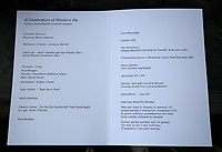 Pictured: The order of service. Wednesday 31 May 2017<br />