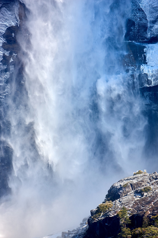 Close up of Upper Yosemite Falls. Yosemite National Park, California