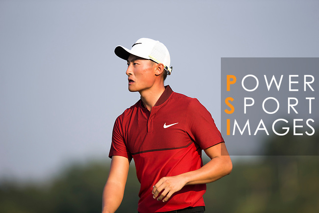 Li Haotong of China during the World Celebrity Pro-Am 2016 Mission Hills China Golf Tournament on 23 October 2016, in Haikou, Hainan province, China. Photo by Victor Fraile / Power Sport Images