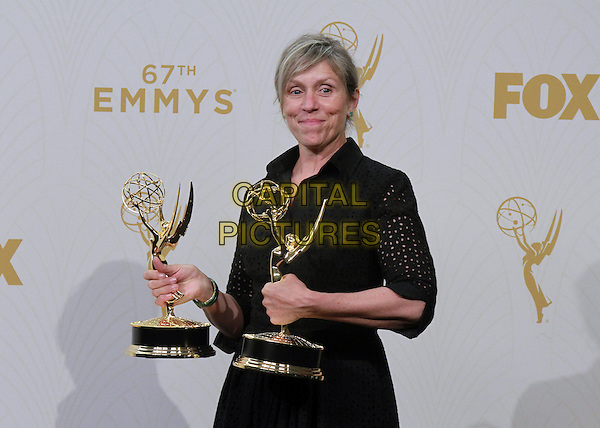 20 September 2015 - Los Angeles, California -  Frances McDormand. 67th Annual Primetime Emmy Awards Press Room held at Microsoft Theater. <br /> CAP/ADM/THB<br /> &copy;THB/ADM/Capital Pictures