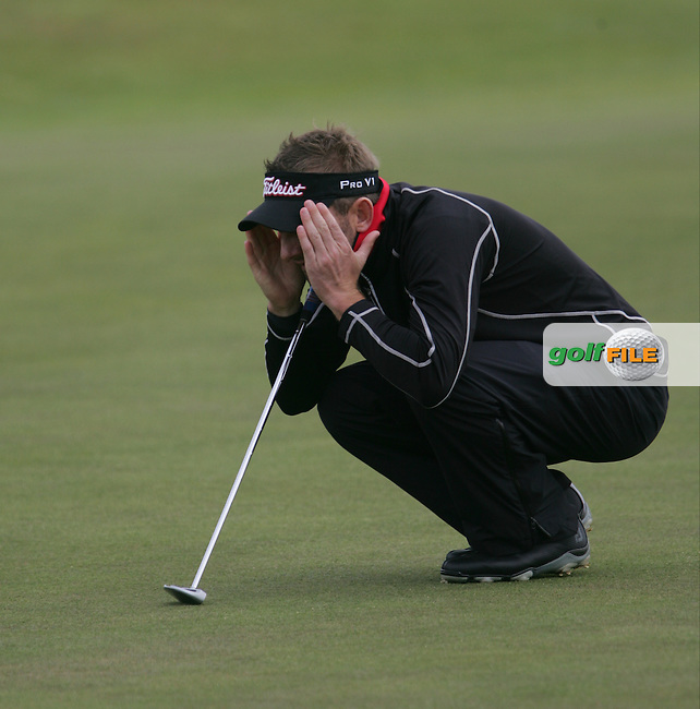 Jbe KRUGER (RSA) on the 5th green during round 3 of the 2015 Dubai Duty Free Irish Open hosted by the Rory Foundation, Royal County Down Golf Club, Newcastle Co Down, Northern Ireland. 30/05/2015<br /> Picture TJ Caffrey, www.golffile.ie