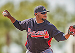 11 March 2013: Atlanta Braves infielder Juan Francisco warms up prior to a Spring Training game against the Washington Nationals at Space Coast Stadium in Viera, Florida. The Braves defeated the Nationals 7-2 in Grapefruit League play. Mandatory Credit: Ed Wolfstein Photo *** RAW (NEF) Image File Available ***