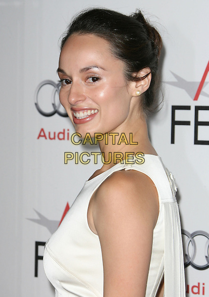 "BERENICE NORIEGA .attending the AFI Fest 2010 Centerpiece Gala Screening of ""Abel"" held at The Grauman's Chinese Theatre, Hollywood, California, USA, November 7th, 2010..portrait headshot white sleeveless hair up side .CAP/RKE/DVS.©DVS/RockinExposures/Capital Pictures."