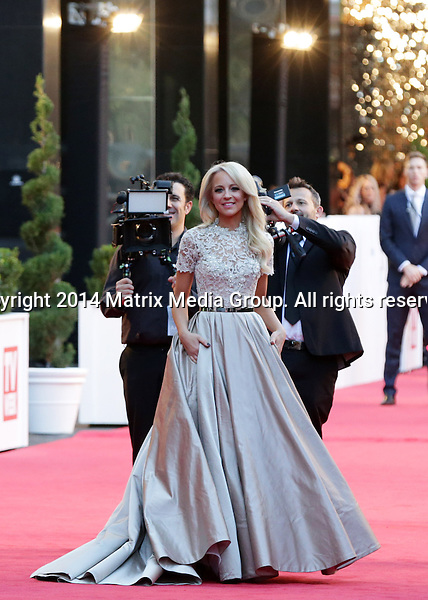 27 APRIL 2014 SYDNEY AUSTRALIA<br /> <br /> NON EXCLUSIVE PICTURES<br /> <br /> 56TH ANNUAL TV WEEK LOGIE AWARDS 2014<br /> <br /> Guest arrivals including Carrie Bickmore, Michelle Bridges, Commando Steve Willis, and newlyweds Asher Keddie &amp; Vincent Fantauzzo<br /> <br /> *No web/digital use without clearance*<br /> MUST CALL PRIOR TO USE .<br /> +61 2 9211-1088<br /> Matrix Media Group<br /> Note: All editorial images subject to the following: For editorial use only. Additional clearance required for commercial, wireless, internet or promotional use.Images may not be altered or modified. Matrix Media Group makes no representations or warranties regarding names, trademarks or logos appearing in the images.