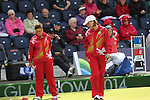 Glasgow 2014 Commonwealth Games<br /> <br /> Anwen Butten and Caroline Taylor (Wales) competing in the lawn bowls women's pairs.<br /> <br /> 30.07.14<br /> &copy;Steve Pope-SPORTINGWALES