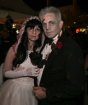 Rosie and Steve during the Zombie Crawl held on Saturday night, October 26, 2019 in downtown Reno.