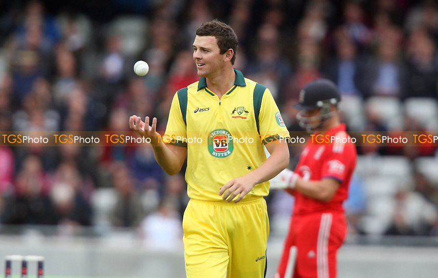 Josh Hazlewood of Australia - England vs Australia, Natwest Series One Day International Cricket at Edgbaston - 11/09/13 - MANDATORY CREDIT: Rob Newell/TGSPHOTO - Self billing applies where appropriate - 0845 094 6026 - contact@tgsphoto.co.uk - NO UNPAID USE