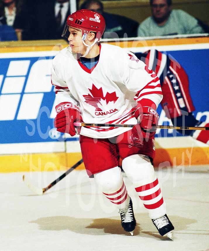 Paul Kariya Team Canada 1994. Photo copyright F. Scott Grant