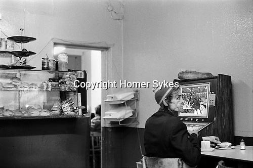 Cafe east London. Brick Lane Whitechapel. 1970s Britain...<br /> <br /> My ref 11/1059/ 1975,