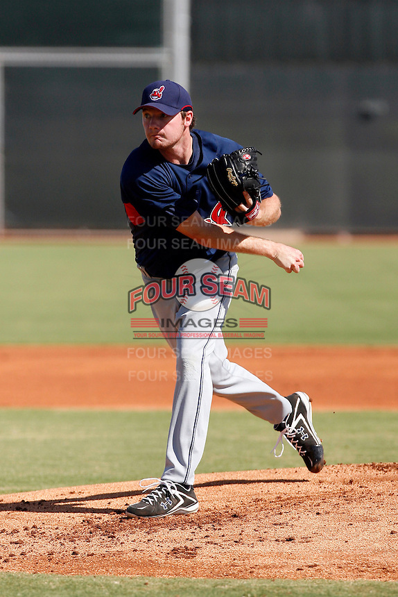 Alex White - Cleveland Indians 2009 Instructional League. White, Cleveland's first round choice in the 2009 draft, pitches in his first professional appearance with the Indians in an Instructional League game against the Reds at Cincinnati's new training complex in Goodyear, AZ - 09/26/2009..Photo by:  Bill Mitchell/Four Seam Images..