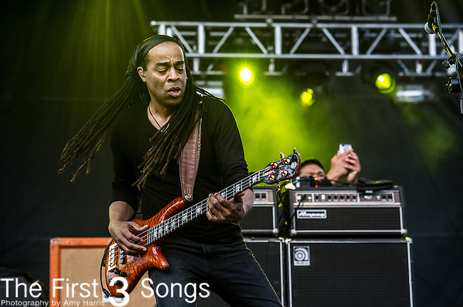 Doug Wimbish of Living Colour performs during the 2014 Rock On The Range festival at Columbus Crew Stadium in Columbus, Ohio.