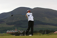 Julie Houston (USA) on the 2nd tee during Round 2 of the Women's Amateur Championship at Royal County Down Golf Club in Newcastle Co. Down on Wednesday 12th June 2019.<br /> Picture:  Thos Caffrey / www.golffile.ie