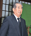 August 15, 2012, Tokyo, Japan - Tokyo Governor, Shintaro Ishihara visits Yasukuni Shrine to pay his respects for the war dead on August 15, 2012 in Tokyo, Japan. (Photo by AFLO)