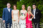 l-r Mark O'Shea, Alicja Korzec, Gwdominika Gwizdzinska, Paula Solarczyk and Matheusz Sieczka enjoying the Killarney Schools Debs at the Earl of Desmond Hotel on Monday