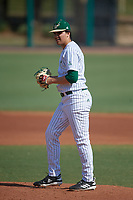 USF Bulls pitcher Baron Stuart (17) gets ready to deliver a pitch during an intrasquad game on February 9, 2019 at USF Baseball Stadium in Tampa, Florida. (Mike Janes/Four Seam Images)