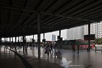 People At A Large Bus Station in Dongguan, China.  © LAN