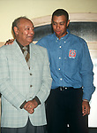 Earl Woods and Tiger Woods attend the Tiger Woods Foundation Benefit Auction at the All Star Cafe on on June 16, 1997 in New York City.