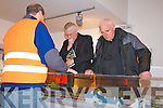 A visit to Lartique Monorail, Listowel by Bishop Raymond Brown, Canon Declan O'Connor and Fr. John Lucid on Sunday.  Pictured here are Bishop Raymond Brown and Fr. John Lucid who were being shown around Lartique Monorail Heritage Centre by Martin Griffin of the Monorail Committee.