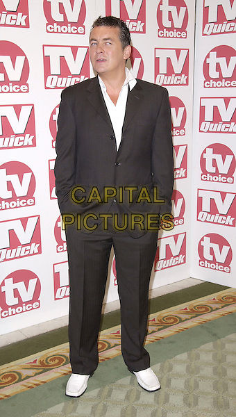 "SHANE RITCHIE.At the TV Quick & TV Choice Awards,.Dorchester Hotel, Park Lane,.London, 5th September 2005.full length black suit white shoes""Best Soap Actor"".www.capitalpictures.com.sales@capitalpictures.com.© Capital Pictures."