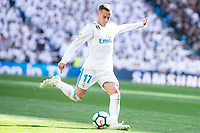 Real Madrid Lucas Vazquez during La Liga match between Real Madrid and Atletico de Madrid at Santiago Bernabeu Stadium in Madrid, Spain. April 08, 2018. (ALTERPHOTOS/Borja B.Hojas) /NortePhoto NORTEPHOTOMEXICO