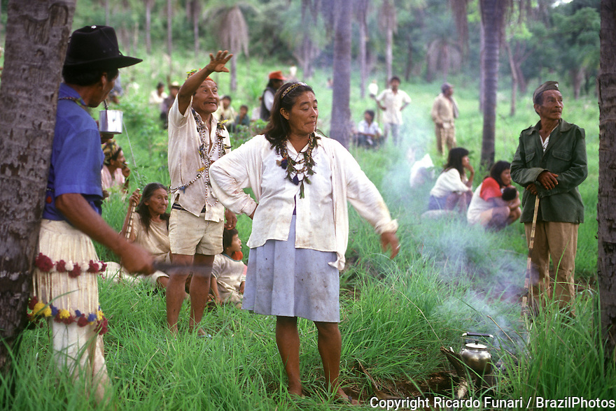 Brazil. Guarani-Kaiowas indigenous people. Recovery of traditional territory.