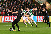 12th September 2017, Glasgow, Scotland; Champions League football, Glasgow Celtic versus Paris Saint Germain;  09 EDINSON CAVANI (psg) scores his penalty in the 40th minute