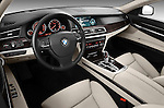 High angle dashboard view of a 2011 BMW 7 Series Active Hybrid