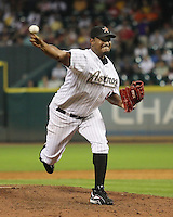 Houston Astros pitcher Jose Valverde on Friday May 23rd at Minute Maid Park in Houston, Texas. Photo by Andrew Woolley / Four Seam Images.