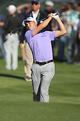 February 1st 2019, Scotsdale, Arizona, USA;  Justin Thomas hits an approach shot on the tenth hole at the second round of the Waste Management Phoenix Open at TPC Scottsdale in Scottsdale, Arizona.