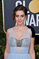 LOS ANGELES, CA. January 06, 2019: Alison Brie at the 2019 Golden Globe Awards at the Beverly Hilton Hotel.<br /> Picture: Paul Smith/Featureflash