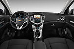 Straight dashboard view of a 2013 Chevrolet CRUZE LTZ 5 Door Hatchback 2WD
