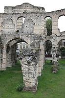 General view of the remains of a Roman amphitheater Palais Gallien, Rue du Dr Albert Barraud, Bordeaux, Nouvelle-Aquitaine, France on 16.10.19.